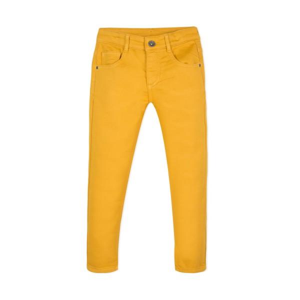 Παντελόνι μουσταρδι βαμβακερό μακρύ με τσέπες μπροστά πίσω με φερμουάρ αγόρι 3pommes