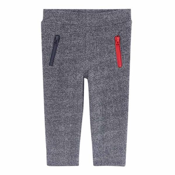 Παντελόνι Φόρμας αγοριού γκρι χειμωνιάτικο με φερμουάρ στις τσέπες 3Pommes