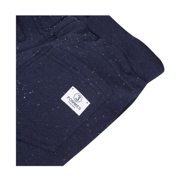 Παντελόνι φόρμας φούτερ μπλε γρι με τσέπες λάστιχο αγόρι 3pommes