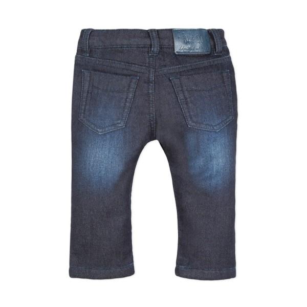 Παντελόνι τζιν βαμβακερό μπλε με τσέπες και φερμουάρ αγόρι 3pommes