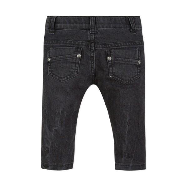 Παντελόνι τζιν βαμβακερό γρι μαύρο με τσέπες και φερμουάρ αγόρι 3pommes