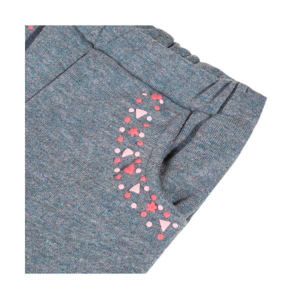 Παντελόνι φούτερ γρι πετρολ με τσέπες κορίτσι 3pommes