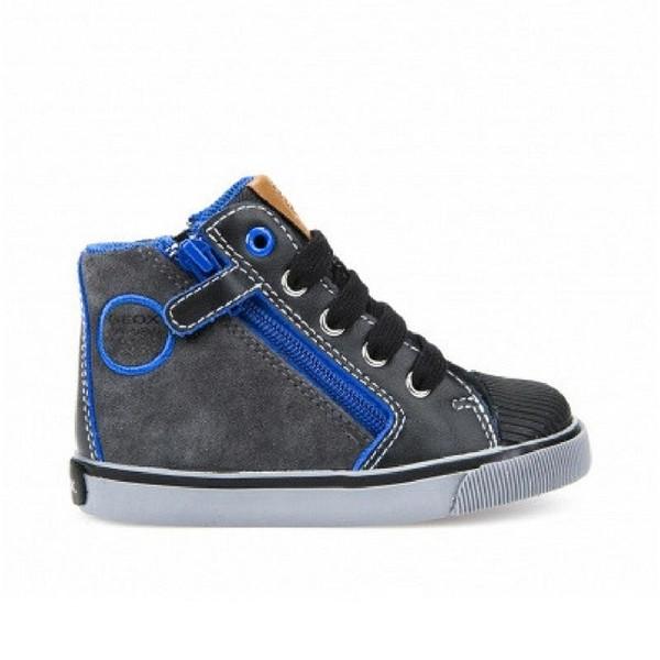 Παπούτσι αγοριού  -  DK Grey / Royal - GEOX - B Kiwi Βoy