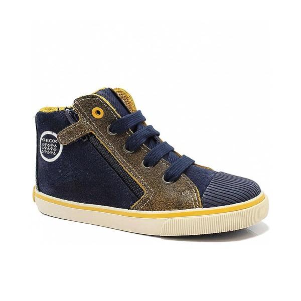 Παπούτσι αγοριού Navy / DK Yellow - GEOX - B Kiwi Boy