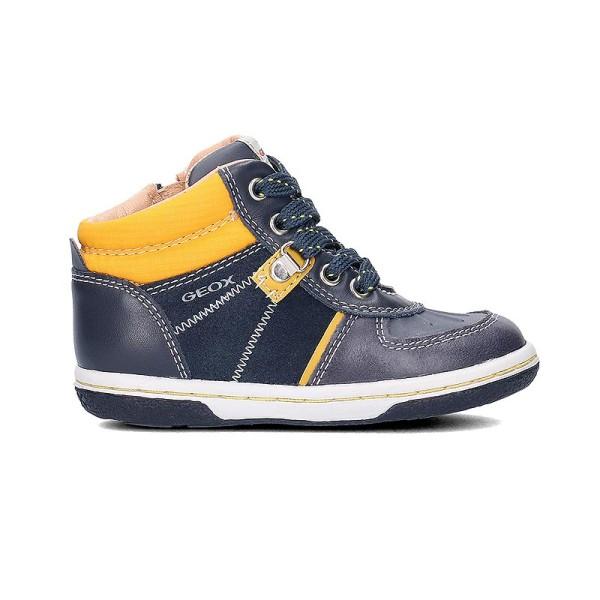 Παπούτσι αγοριού Navy / Yellow - GEOX - Baby Flick Boy
