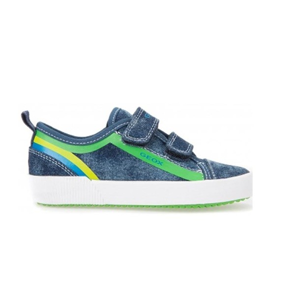 Παπούτσι αγοριού Sneakers Blue jeans / Green - GEOX - J KILWI B