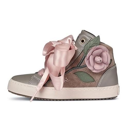 Παπούτσι κοριτσιού sneakers ΡΟΖ -  GEOX - B NEW FLICK GIRL