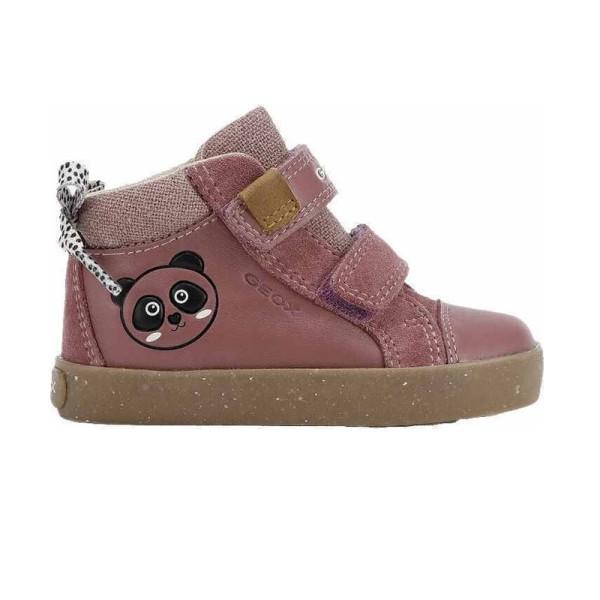Παπούτσι κοριτσιού σε ροζ χρώμα - sneakers - GEOX -B KILWI GIRL -  WWF Από οικολογικά υλικά