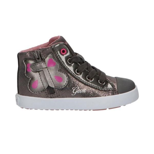 Παπούτσι κοριτσιού σε γκρι χρώμα σχέδιο πεταλούδα - sneakers - GEOX -B KILWI GIRL