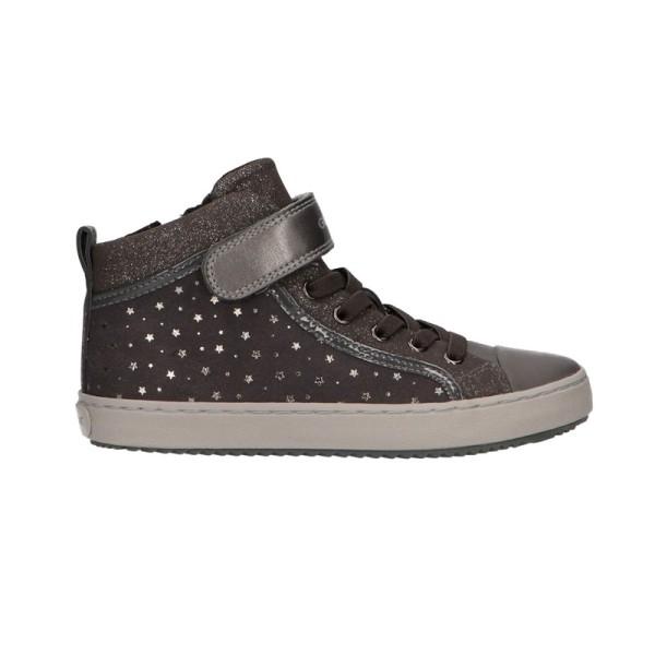 Παπούτσι κοριτσιού γκρι sneakers με αστεράκια - GEOX - J KALISPERA GIRL
