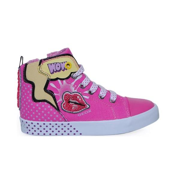 Παπούτσι κοριτσιού Print Camvas / Fuchsia  - GEOX - JR CIAK GIRL