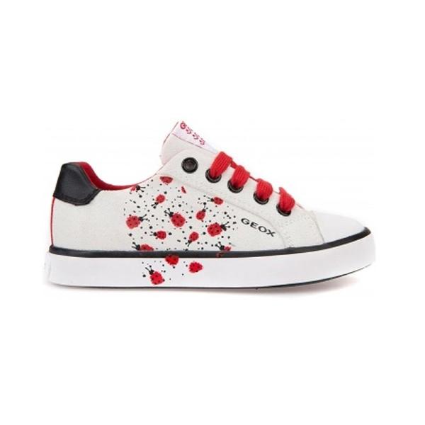 Παπούτσι κοριτσιού Sneakers - White  / Red- GEOX - J CIAK G
