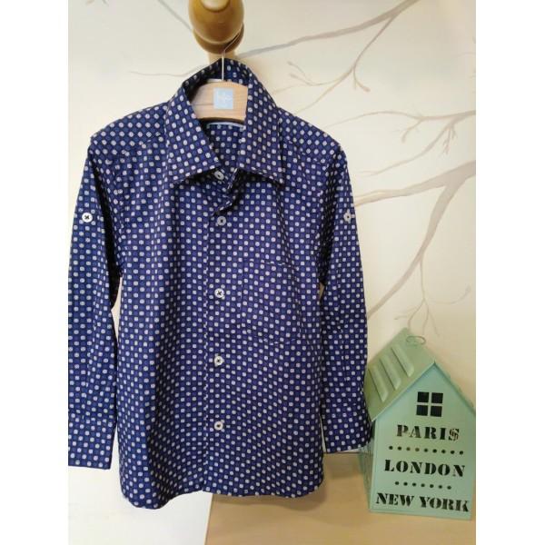 Γαλάζιο πουκάμισο αγοριού με σχέδια Emporio 88.