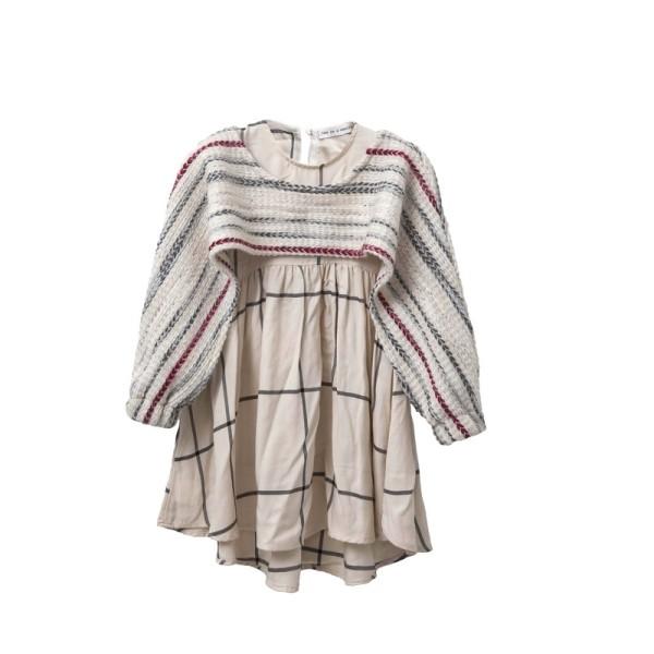 Φόρεμα κοριτσιού σε εκρού με ρίγες απο βιολογικό βαμβακι  - Two in a Castle