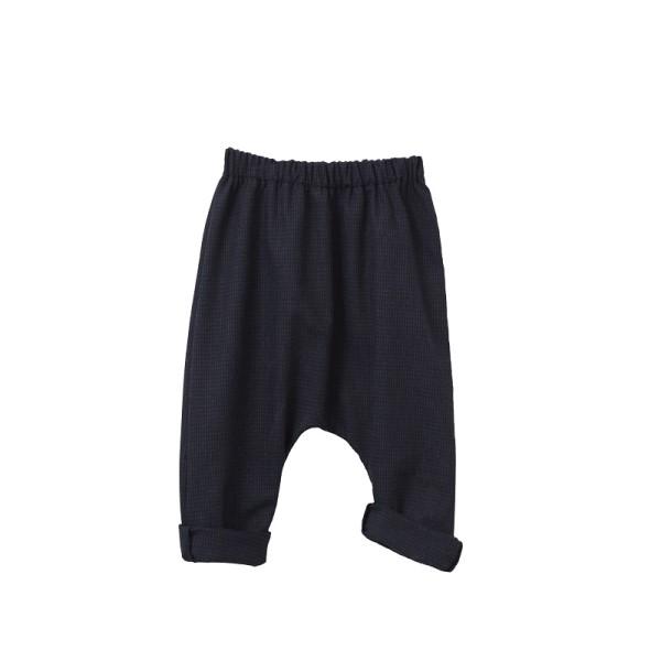 Σετ γιλέκο, παντελόνι και παπιγιόν για αγόρι σε μπλε χρώμα από βιολογικό βαμβάκι -  Two in a Castle