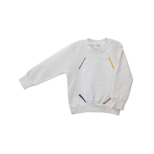 Μπλούζα φούτερ για αγόρι εκρού απο βιολογικό βαμβάκι -Two in a Castle