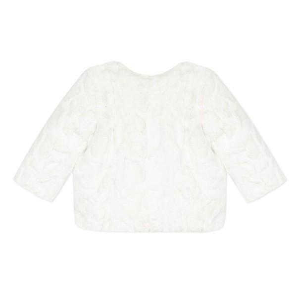 Γουνάκι κοριτσιού σε λευκό χρώμα με φερμουάρ που κλείνει  της εταιρίας 3pommes