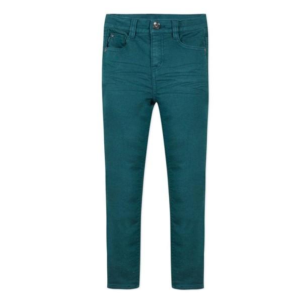 Παντελόνι  jeans skinny σε υπέροχο πετρολ χρώμα με τσέπες 3pommes