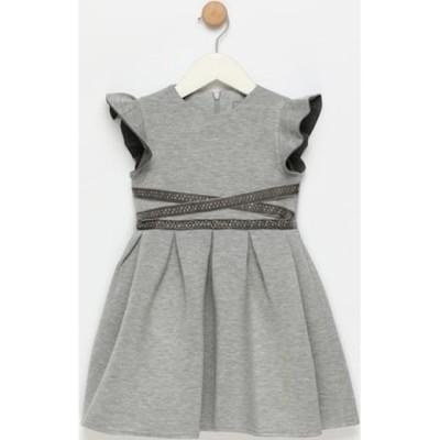 Φόρεμα γκρι αμάνικο με φερμουάρ Artigli