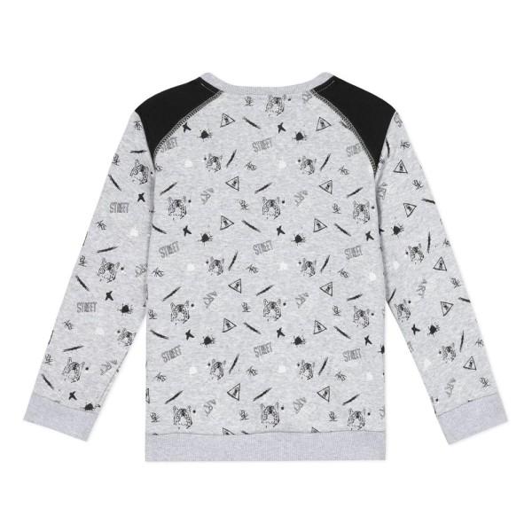 Μπλούζα αγοριού βαμβακερή με σχέδια γκρι χρώμα της εταιρίας 3Pommes