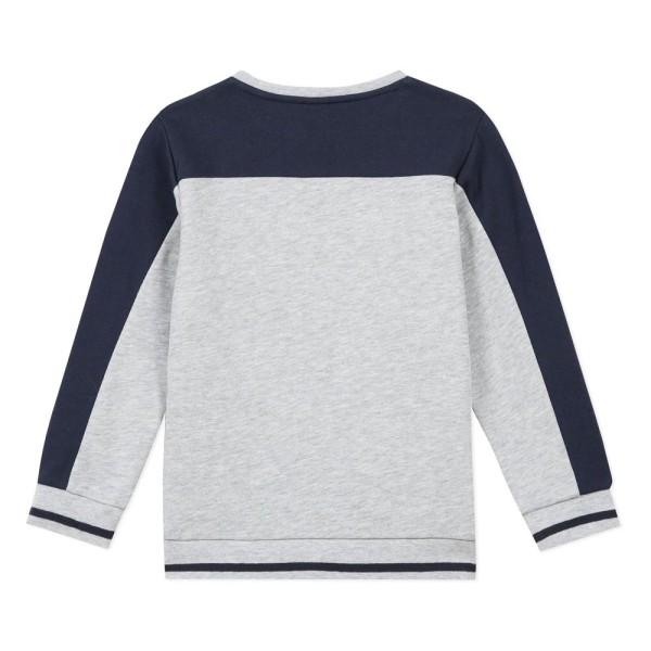 Μπλουζάκι αγοριού με μακρύ μανίκι σε γκρι χρώμα με λεπτομέρειες μπλε της εταιρίας 3Pommes
