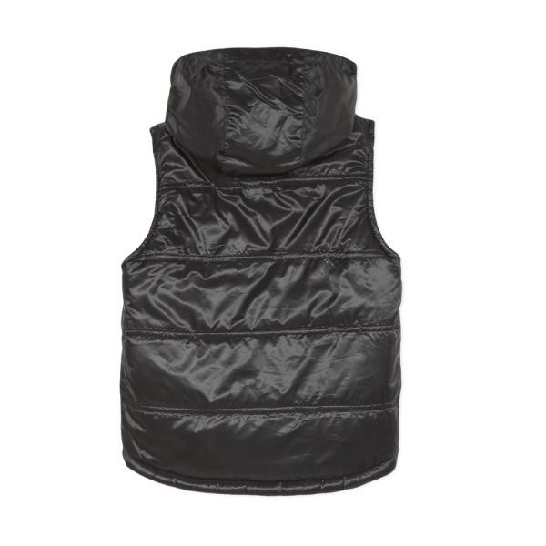 Γιλέκο αγοριού αμάνικο με κουκούλα 2 όψεων σε μαύρο-πετρολ χρώμα της εταιρίας 3Pommes