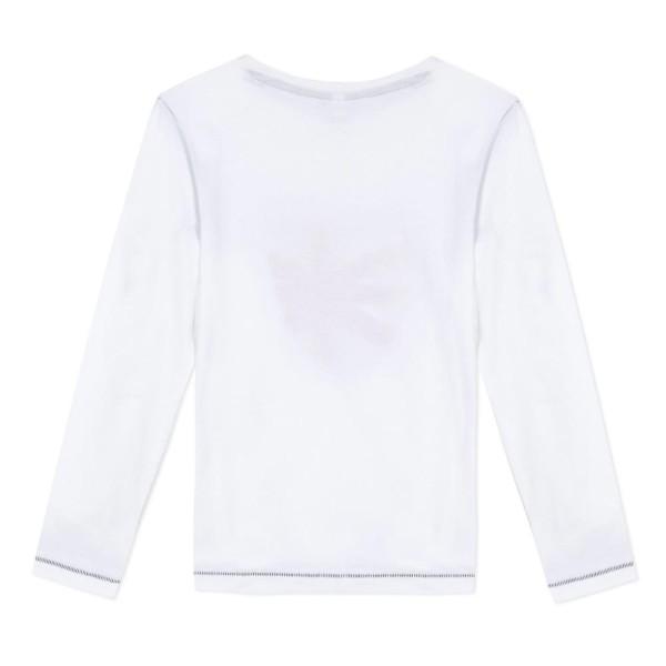Μπλουζάκι αγοριού με μακρύ μανίκι σε λευκό χρώμα και σχέδιο στο μπροστινό μέρος της εταιρίας 3Pommes