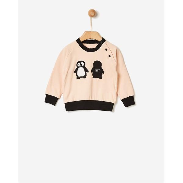 Newborn μπλούζα κοριτσιού σχέδιο πιγκουίνο pink της εταιρίας YELL-OH! 40170135109