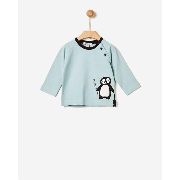 Μπλούζα αγοριού σχέδιο πιγκουίνο σιέλ της εταιρίας YELL-OH!  40171106106