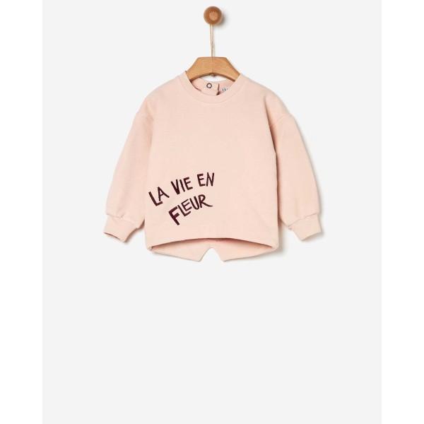 Μπλούζα κοριτσιού φούτερ ροζ με κέντημα της εταιρίας YELL-OH!  41170135059