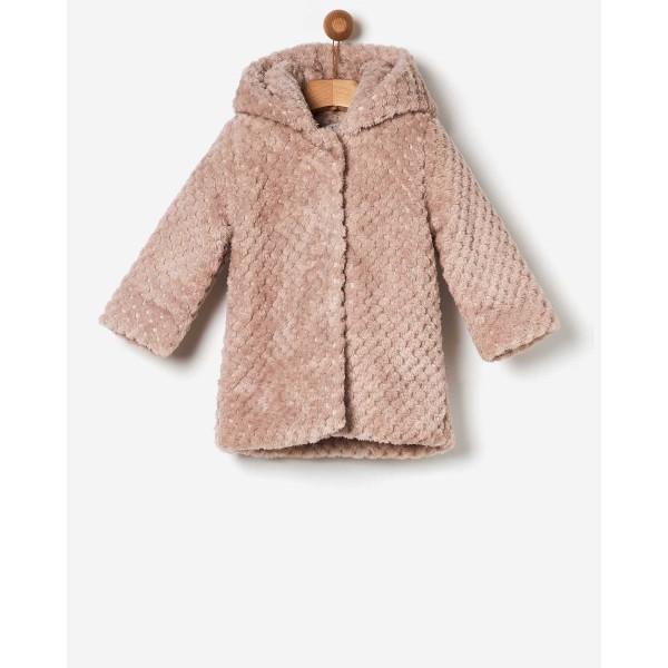 Ζακέτα-γούνα πολύ ζεστή σε ροζ  χρώμα  κοριτσιού της εταιρίας YELL-OH!  41170152009