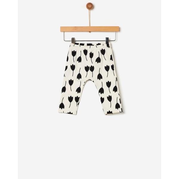 Παντελόνι κολάν κοριτσιού ασπρόμαυρο /σχέδιο τουλίπα της εταιρίας YELL-OH!  41170234008