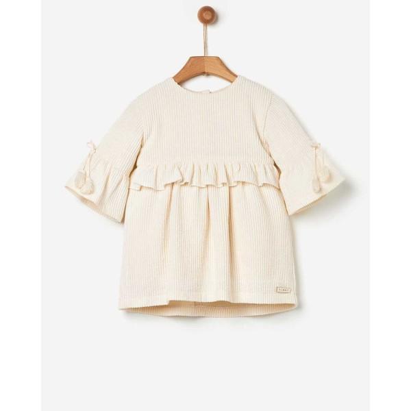 Φόρεμα κοριτσιού υφαντό MARSHMALLOW της εταιρίας YELL-OH! 41170240008