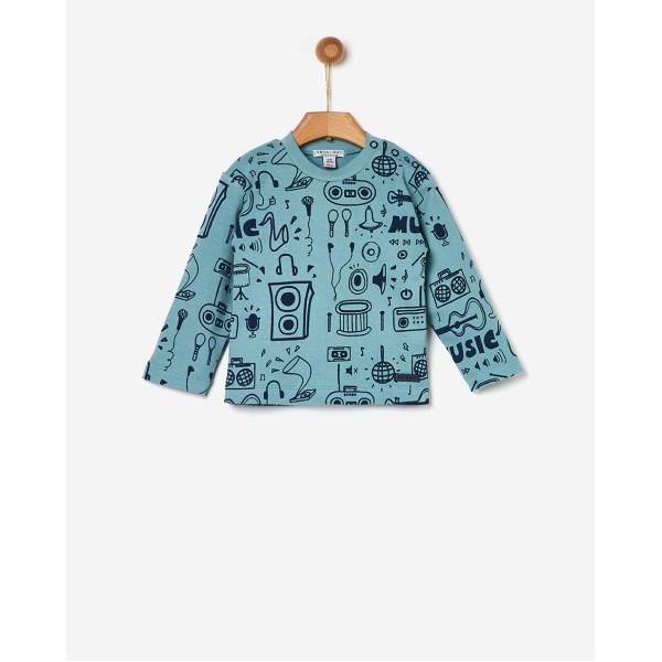 Μπλούζα αγοριού blue music της εταιρίας YELL-OH! 41171106005