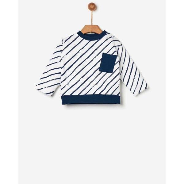 Μπλούζα αγοριού φούτερ ριγέ της εταιρίας YELL-OH! 41171106058