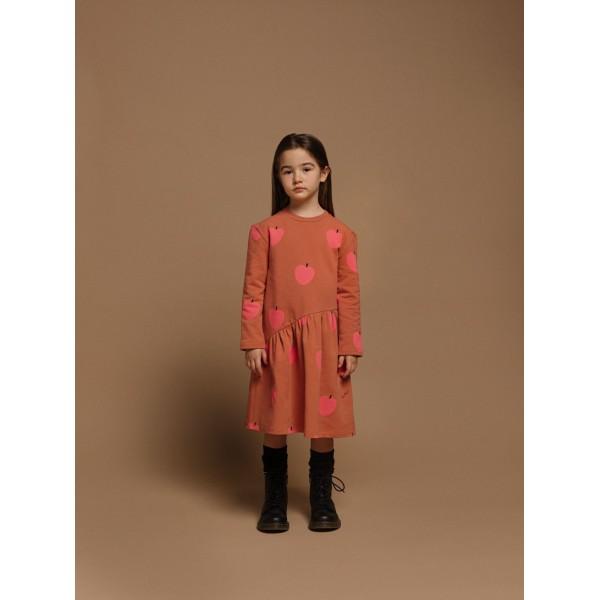 Φόρεμα κοριτσιού apples σωμόν χρώμα της εταιρίας YELL-OH! 42170340009