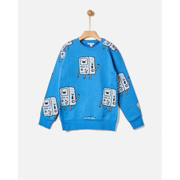 Φούτερ αγοριού γαλάζιο χρώμα με σχέδια της εταιρίας YELL-OH! 42171110055
