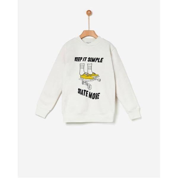 Φούτερ αγοριού winter λευκό χρώμα της εταιρίας YELL-OH! 42171210068